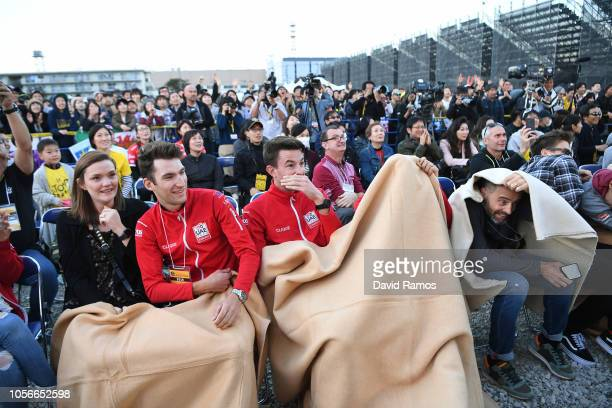 Sven Erik Bystrøm Norway and UAE Team Emirates / Vegard Stake Laengen Norway and UAE Team Emirates / Fans / Public / attending to the riders develop...