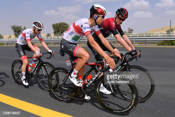 Sven Erik Bystrom of Norway and UAE Team Emirates / Chris Froome of The United Kingdom and Team INEOS / during the 6th UAE Tour 2020 Stage 1 a 148km...