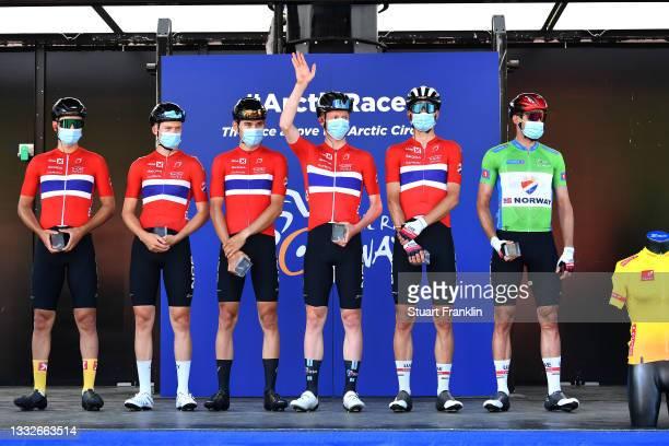 Sven Erik Bystrom of Norway, Andre Drege of Norway, Aspelund Holstad Ludvik of Norway, Adne Holter of Norway, Alexander Kristoff of Norway Green...