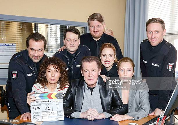Sven Fricke Maria Ketikidou Jan Fedder Wanda Perdelwitz Jens Muenchow Marc Zwinz Saskia Fischer and Peter Fieseler attend a photo call to mark the...