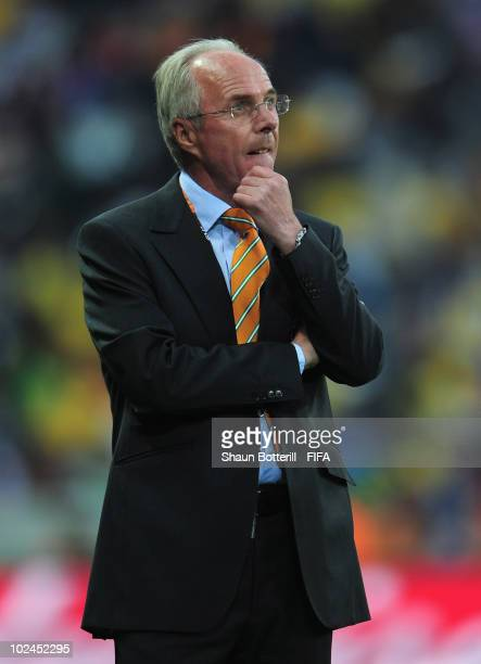 Sven Goran Eriksson head coach of Ivory Coast during the 2010 FIFA World Cup South Africa Group G match between North Korea and Ivory Coast at the...