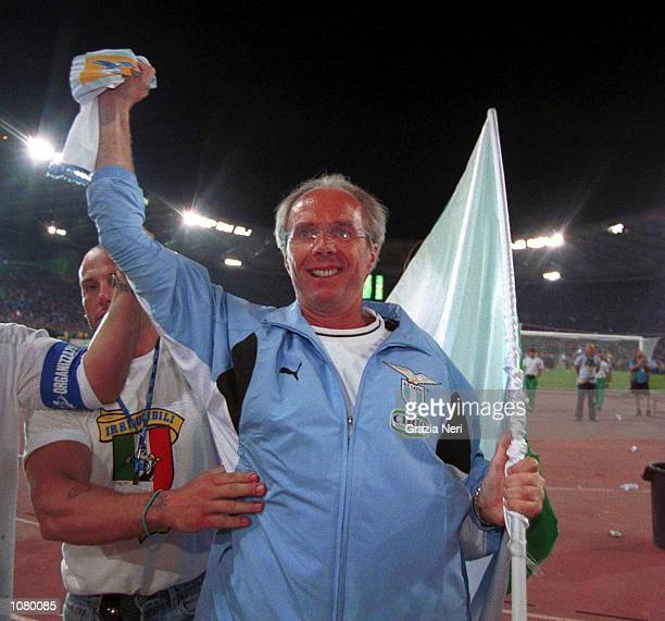 Sven Goran Eriksson of Lazio celebrates winning the Scudetto Mandatory Credit Grazia Neri/ALLSPORT
