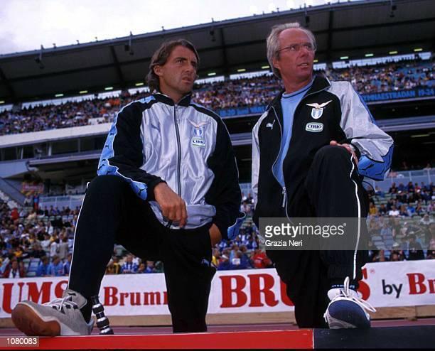 Sven Goran Eriksson of Lazio with Roberto Mancini Mandatory Credit Grazia Neri/ALLSPORT