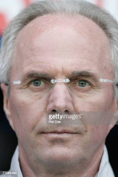 Sven Goran Eriksson the England manager looks on before the International friendly match between England B and Belarus at the Madejski Stadium on May...