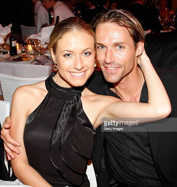 Sven Hannawald and girlfriend Alena Gerber attend the Success for Future Award 2011 awards ceremony at Bayerischer Hof on April 14 2011 in Munich...