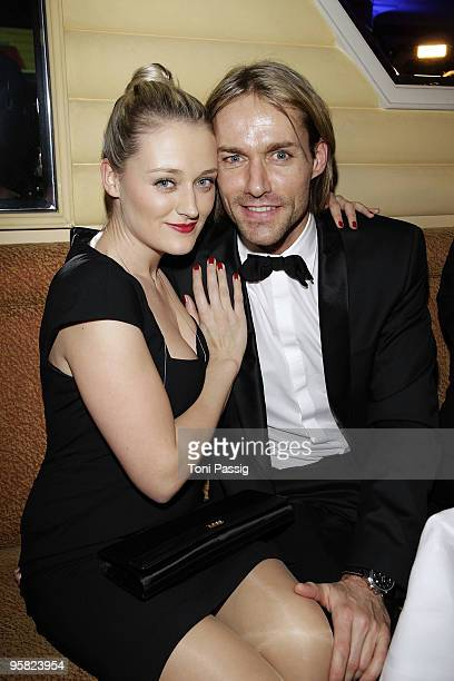 Sven Hannawald and girlfriend MarieTherese Mueller attend the 37 th German Filmball 2010 at the hotel Bayrischer Hof on January 16 2010 in Munich...