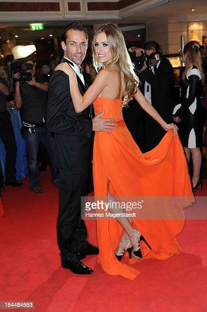 Sven Hannawald and his girlfriend Alena Gerber attend the Audi Generation Award 2012 at Hotel Bayerischer Hof on October 20 2012 in Munich Germany