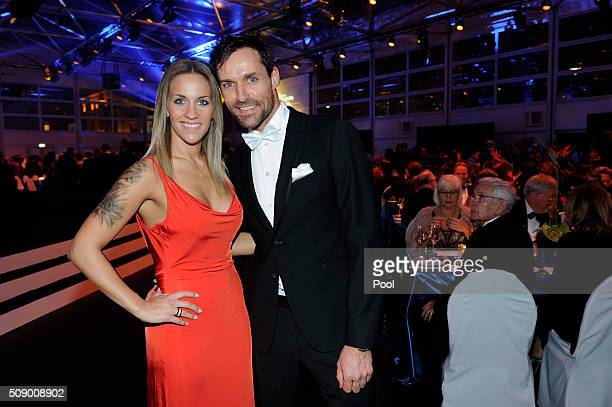 Sven Hannawald and his girlfriend Melissa Thiem attend the German Sports Gala 'Ball des Sports 2016' on February 6 2016 in Wiesbaden Germany