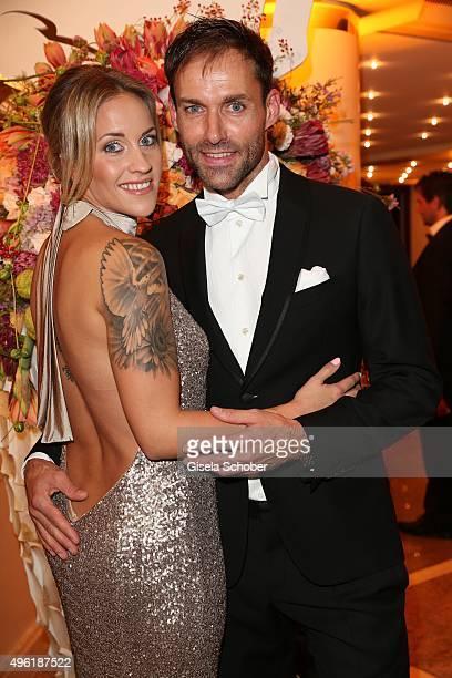 Sven Hannawald and his partner Melissa Thiem during the German Sports Media Ball at Alte Oper on November 7 2015 in Frankfurt am Main Germany