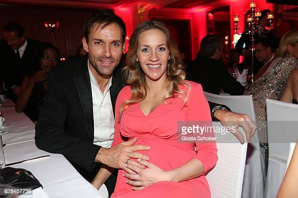 Sven Hannawald and his pregnant wife Melissa Hannawald during the 10th Audi Generation Award 2016 at Hotel Bayerischer Hof on December 7 2016 in...