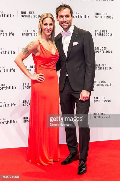 Sven Hannawald and Melissa Thiem attend German Sports Gala 'Ball des Sports 2016' on February 6 2016 in Wiesbaden Germany