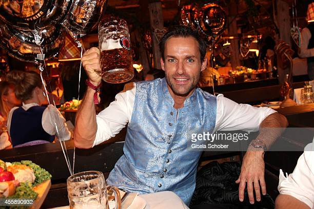 Sven Hannawald attends the 'Almauftrieb' at Kaefer tent during Oktoberfest at Theresienwiese on September 21 2014 in Munich Germany