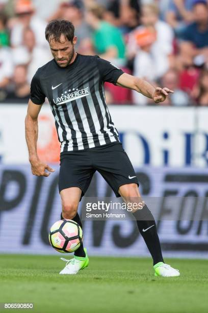 Sven Hannawald of Schumacher and Friends controls the ball during the Champions for Charity Friendly match at Opel Arena on July 3 2017 in Mainz...