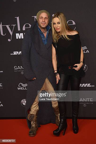 Sven KilthauLander and Xenia Seeberg arrive for the Michalsky Style Night during MercedesBenz Fashion Week Autumn/Winter 2014/15 at Tempodrom on...