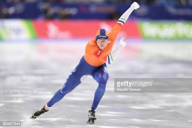 Sven Kramer of Netherlands competes in the men 1500m during the ISU World Single Distances Speed Skating Championships Gangneung Test Event For...