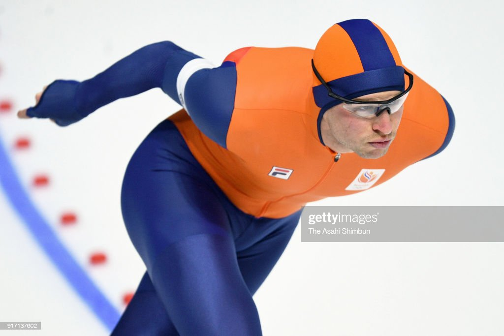 Sven Kramer of the Netherlands competes in the Men's 5000m Speed Skating event on day two of the PyeongChang 2018 Winter Olympic Games at Gangneung Oval on February 11, 2018 in Gangneung, South Korea.