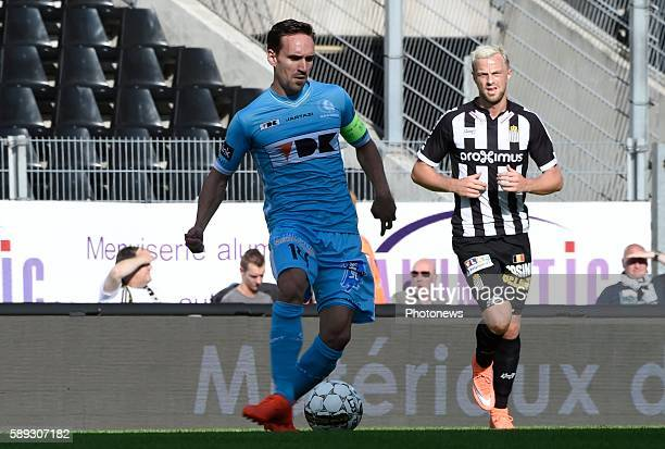 Sven Kums midfielder of KAA Gent pictured during Jupiler Pro League match between RCS Charleroi and KAA Gent on August 13, 2016 in Charleroi, Belgium