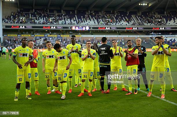 Sven Kums midfielder of KAA Gent played his last matcher KAA Gent pictured during Jupiler Pro League match between RSC Anderlecht and KAA Gent on...