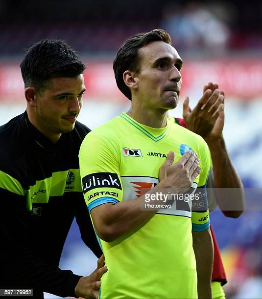 Sven Kums midfielder of KAA Gent played his last matcher KAA Gent pictured during Jupiler Pro League match between RSC Anderlecht and KAA Gent on...