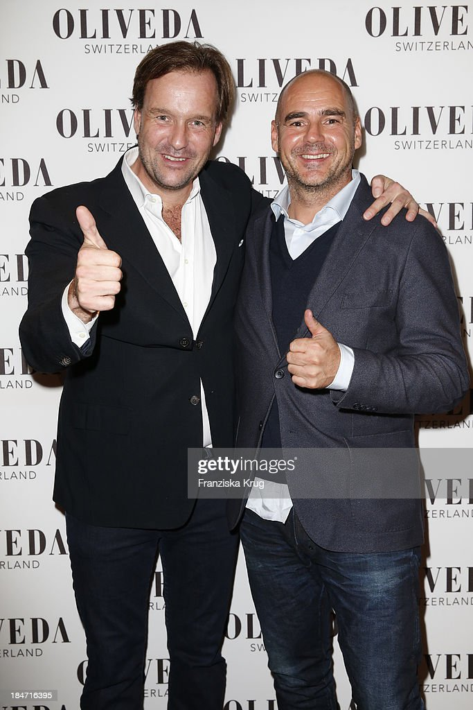 Sven Ley and Thomas Lommel attend the OLIVEDA - Launch Party at Bayerischer Hof on October 15, 2013 in Munich, Germany.