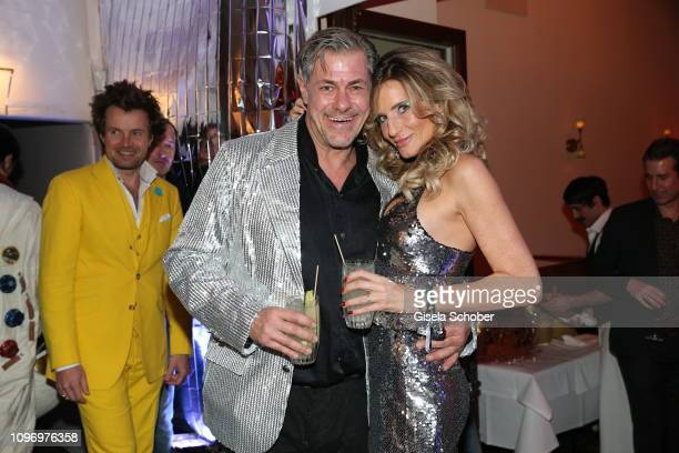 Sven Martinek and Bianca Ruetter during the PLACE TO B Berlinale party of BILD at Borchardt Restaurant on February 9 2019 in Berlin Germany