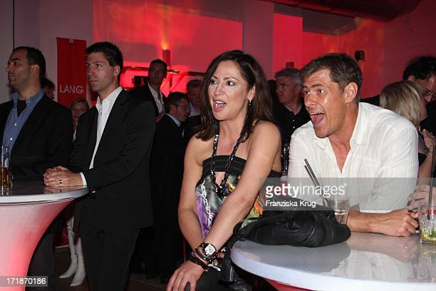 Sven Martinek and Simone Thomalla at the 'Platinum Wedding Ring For 10 Marrying Store Opening Party' in Erfurt