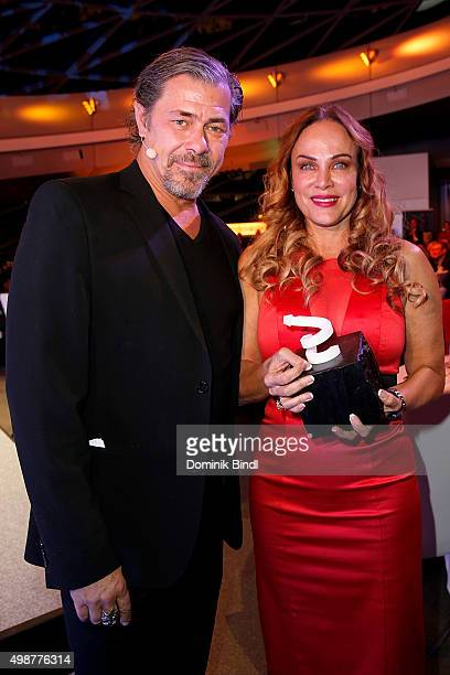 Sven Martinek and Sonja Kirchberger attend the Querdenker Award 2015 at BMW World on November 25 2015 in Munich Germany