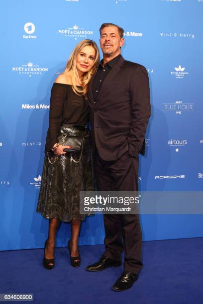 Sven Martinek and Xenia Seeberg attend the Blue Hour Reception hosted by ARD during the 67th Berlinale International Film Festival Berlin on February...