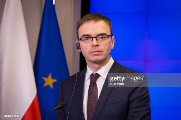 Sven Mikser during the meeting of Polish and Estonian Ministers of Foreign Affairs in Warsaw Poland on 9 February 2018