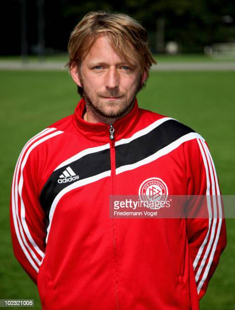 Sven Mislintat of the DFB Pro Licence Course 2010/2011 poses during the photocall at the Rheinenergie Stadium on June 23 2010 in Cologne Germany