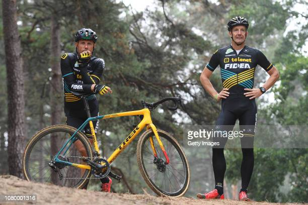 Sven Nys of Belgium general manager and owner of Team Telenet Fidea Lions and Kris Wouters of Belgium Team leader during the Team Telenet Fidea Lions...