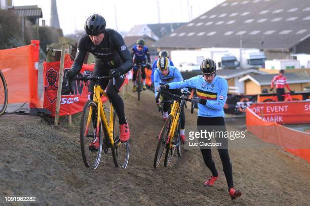 Sven Nys of Belgium general manager and owner of Team Telenet Fidea Lions / Toon Aerts of Belgium and Team Belgium / during the 70th Cyclo-cross...