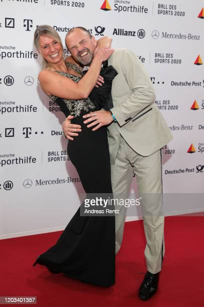 Sven Ottke and his wife Gabi Reha attend the Ball des Sports 2020 gala at RheinMain CongressCenter on February 01 2020 in Wiesbaden Germany