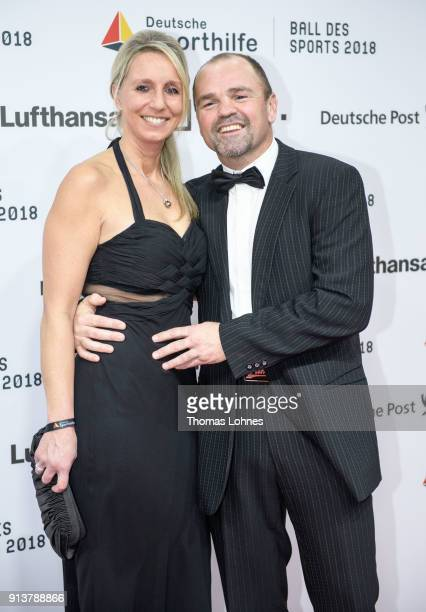Sven Ottke and his wife Monic attend the German Sports Gala 2018 'Ball Des Sports' on February 3 2018 in Wiesbaden Germany