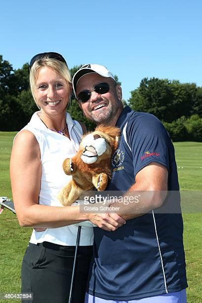 Sven Ottke and his wife Monic during the Kaiser Cup 2015 golfcup and gala on July 11 2015 in Bad Griesbach near Passau Germany