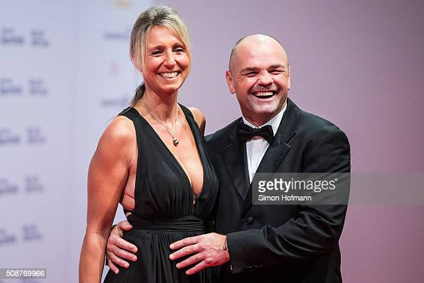 Sven Ottke and his wife Monic Frank attend German Sports Gala 'Ball des Sports 2016' on February 6 2016 in Wiesbaden Germany