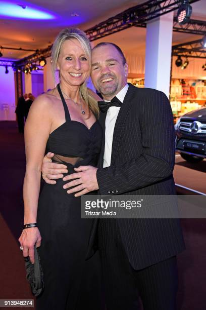 Sven Ottke and his wife Monic Frank attend the German Sports Gala 'Ball Des Sports' 2018 on February 3 2018 in Wiesbaden Germany