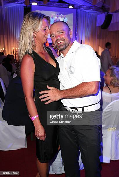 Sven Ottke and his wife Monic Ottke during the Kaiser Cup 2015 golfcup and gala on July 11 2015 in Bad Griesbach near Passau Germany