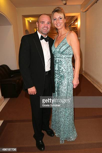 Sven Ottke and his wife Monique Ottke during the German Sports Media Ball at Alte Oper on November 7 2015 in Frankfurt am Main Germany