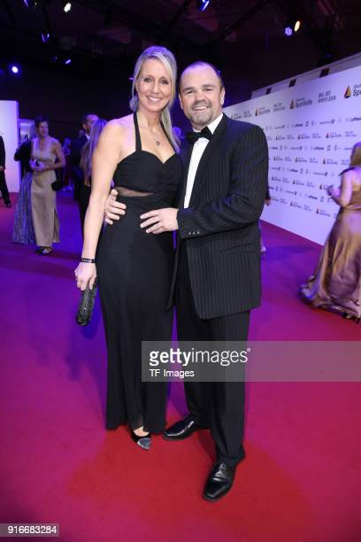 Sven Ottke and Monic Frank attend the German Sports Gala 2018 'Ball Des Sports' on February 3 2018 in Wiesbaden Germany