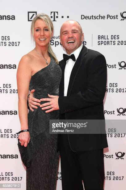 Sven Ottke and Monic Frank attend the German Sports Gala 'Ball des Sports 2017' on February 4 2017 in Wiesbaden Germany