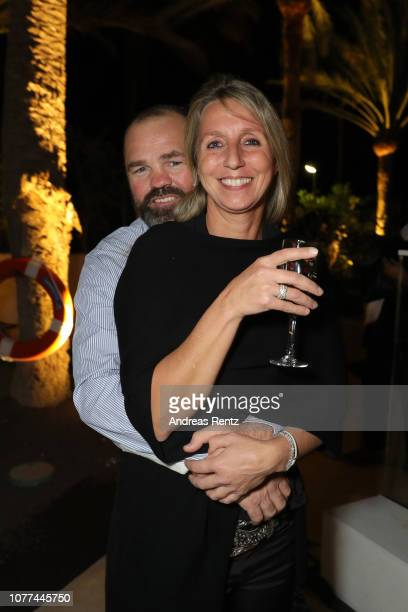 Sven Ottke and Monic Frank attend the reopening of ROBINSON Club Jandia Playa on December 04 2018 in Fuerteventura Spain