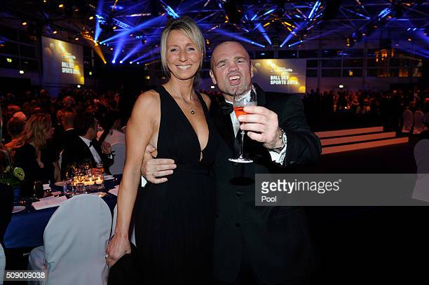 Sven Ottke and partner Monic Frank attend the German Sports Gala 'Ball des Sports 2016' on February 6 2016 in Wiesbaden Germany