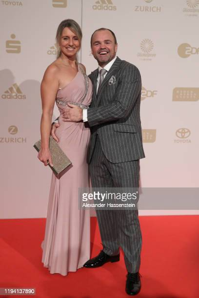 Sven Ottke attends with Monic Frank the Sportler des Jahres Gala at Kurhaus BadenBaden on December 15 2019 in BadenBaden Germany