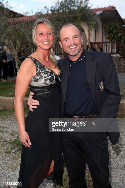 Sven Ottke Monique Ottke during the FCR EAGLES Masters Toscana golf tournament Dinner of FalkRaudies FCR Immobilien AG at Hotel Il Pelagone and Golf...