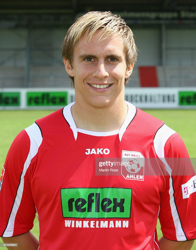 Sven Schaffrath poses during the Bundesliga 2nd Team Presentation of RW Ahlen at the Werse stadium on July 19, 2008 in Ahlen, Germany.
