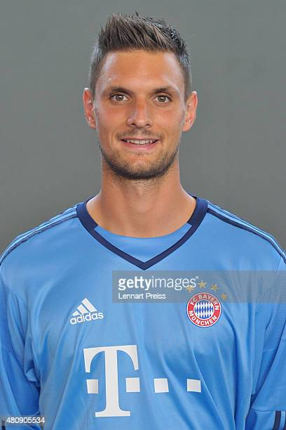 Sven Ullreich poses during the team presentation of FC Bayern Muenchen at Bayern's training ground Saebener Strasse on July 16 2015 in Munich Germany