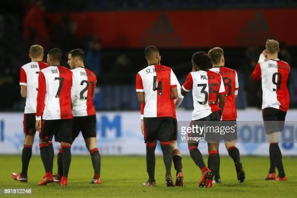 Sven van Beek of Feyenoord JeanPaul Boetius of Feyenoord Sofyan Amrabat of Feyenoord Jeremiah St Juste of Feyenoord Tyrell Malacia of Feyenoord Jens...