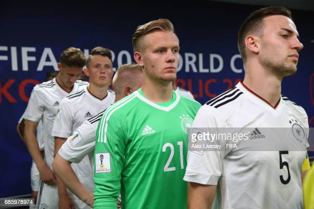 Svend Brodersen of Germany waits in the tunnel prior to the FIFA U20 World Cup Korea Republic 2017 group B match between Venezuela and Germany at...