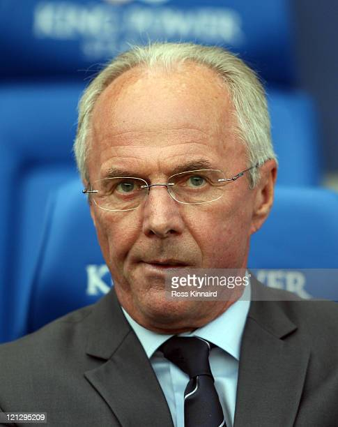 SvenGoran Eriksson manager of Leicester during the npower Championship match between Leicester City and Bristol City at The King Power Stadium on...